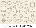 vector set of vintage frames on ... | Shutterstock .eps vector #566426734