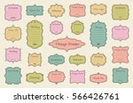 vector set of vintage frames on ... | Shutterstock .eps vector #566426761
