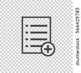 add list document icon vector...