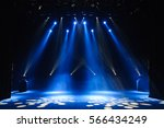 free stage with lights ... | Shutterstock . vector #566434249