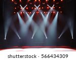 free stage with lights ... | Shutterstock . vector #566434309
