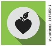 leaf on heart vector icon | Shutterstock .eps vector #566435041