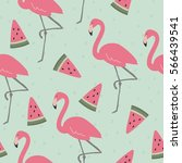vector print  with pink... | Shutterstock .eps vector #566439541