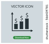 chart dollar vector icon | Shutterstock .eps vector #566439781