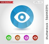 colored icon or button of eye... | Shutterstock .eps vector #566443591