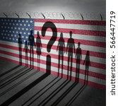 united states refugee question... | Shutterstock . vector #566447719