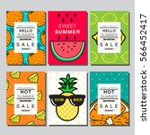 summer   layout design ... | Shutterstock .eps vector #566452417