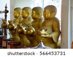 Four Buddha Statue Hold Money...
