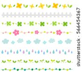Spring Elements Border Set.