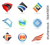 various colorful abstract icons ... | Shutterstock .eps vector #56645854