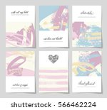 set of 6 abstract painting...   Shutterstock . vector #566462224