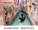 Venetian Gondolier Punting Gondola Through - Fine Art prints