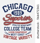 chicago college typography  ... | Shutterstock .eps vector #566472361