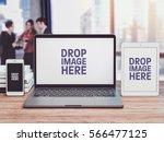 business it mockup  notebook...   Shutterstock . vector #566477125