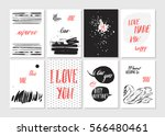 hand made vector abstract... | Shutterstock .eps vector #566480461