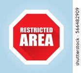Restricted Area Sign   Flat...