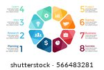 vector circle arrows... | Shutterstock .eps vector #566483281