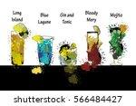 vector illustration of cocktail ... | Shutterstock .eps vector #566484427