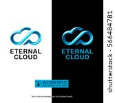 creative eternity cloud logo... | Shutterstock .eps vector #566484781