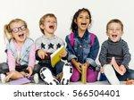 diversity schooler friends... | Shutterstock . vector #566504401