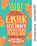 carrot easter egg hunt... | Shutterstock .eps vector #566506999