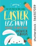 easter bunny egg hunt... | Shutterstock .eps vector #566507059