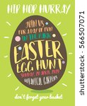 easter egg hunt invitation... | Shutterstock .eps vector #566507071