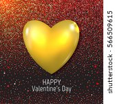 happy valentines day card with... | Shutterstock .eps vector #566509615