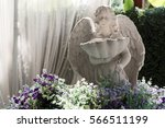 cupid statue hole sink in the...   Shutterstock . vector #566511199