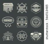 handmade craft insignias... | Shutterstock .eps vector #566513485