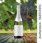 champagne bottle mock up  3d... | Shutterstock . vector #566515351