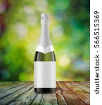 champagne bottle mock up  3d... | Shutterstock . vector #566515369