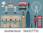 england flat illustration ... | Shutterstock .eps vector #566517751