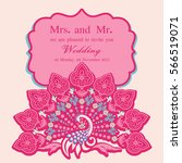 vintage invitation and wedding... | Shutterstock .eps vector #566519071