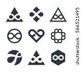 infinity vector symbols and... | Shutterstock .eps vector #566521495