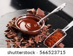 melting chocolate   melted... | Shutterstock . vector #566523715
