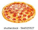 delicious classic italian pizza ... | Shutterstock . vector #566525527