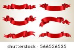 ribbon banner set.vector red... | Shutterstock .eps vector #566526535