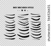 hand drawn curved brushstrokes... | Shutterstock .eps vector #566526631