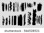 hand drawn brushstrokes and... | Shutterstock .eps vector #566528521