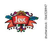 love text for valentine's day... | Shutterstock .eps vector #566528947