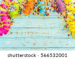 Colorful Streamers And Confett...