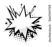 blank template comic text... | Shutterstock .eps vector #566544709