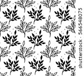 seamless pattern with flowers.... | Shutterstock .eps vector #566548075