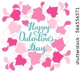 happy valentines day card.... | Shutterstock .eps vector #566556571