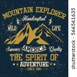 mountain explorer  america ... | Shutterstock .eps vector #566561635