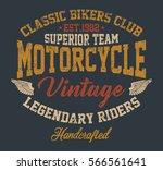 vintage motorcycle  legendary... | Shutterstock .eps vector #566561641