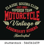 vintage motorcycle  legendary...   Shutterstock .eps vector #566561659