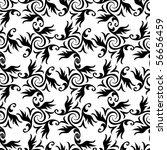 seamless black and white...   Shutterstock . vector #56656459