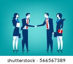 agreement cooperation. business ... | Shutterstock .eps vector #566567389